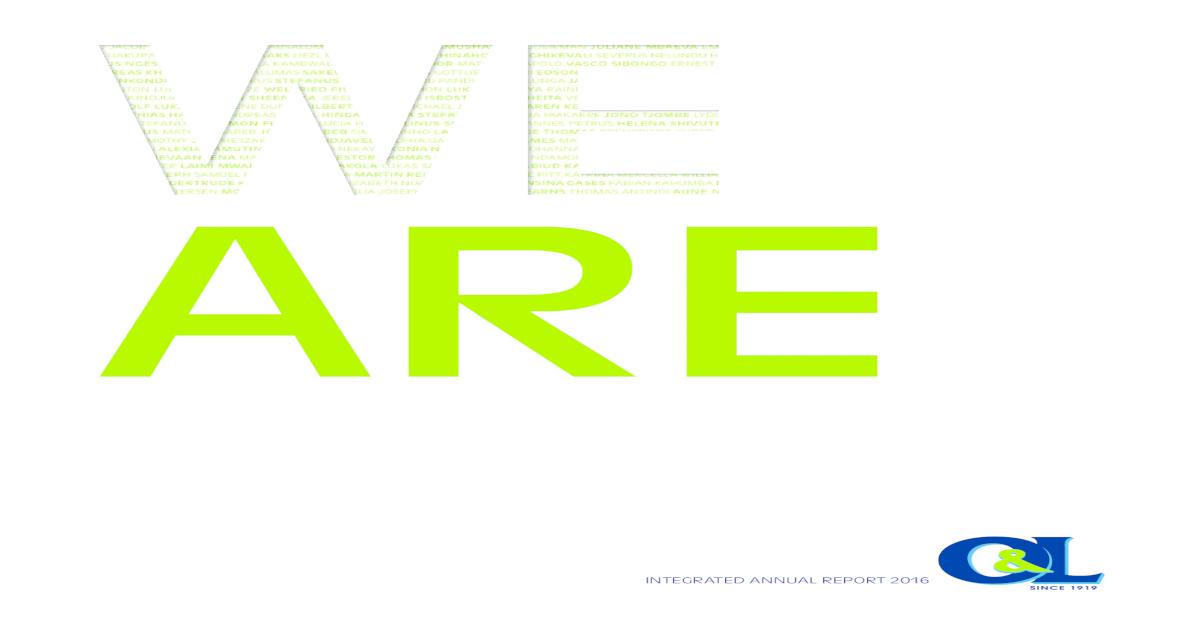CREATING A FUTURE, - Ohlthaver & ? cunha sagecus isaack
