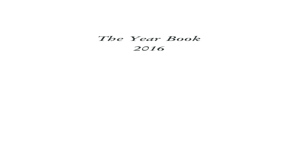 The Year Book 2016 - [PDF Document]