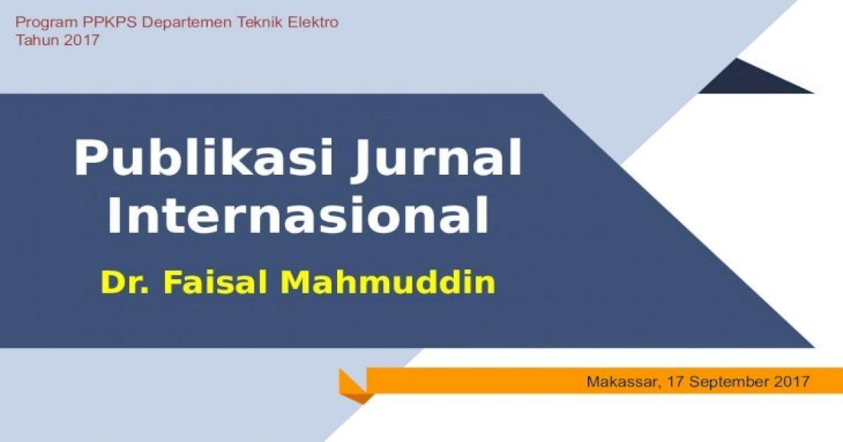 Publikasi Jurnal Internasional - unhas.ac.id .Jurnal ...